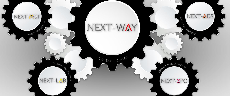 next-way skills center next-mgt, next-lab, next--xpo, next-ads