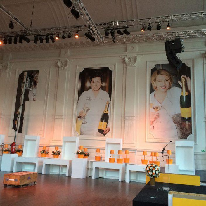 wall wrap-Habillage pour Events Veuve Cliquot et Guide Michelin