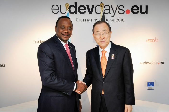 eudevdays - Ban Ki-Moon and Uhuru Kenyatta