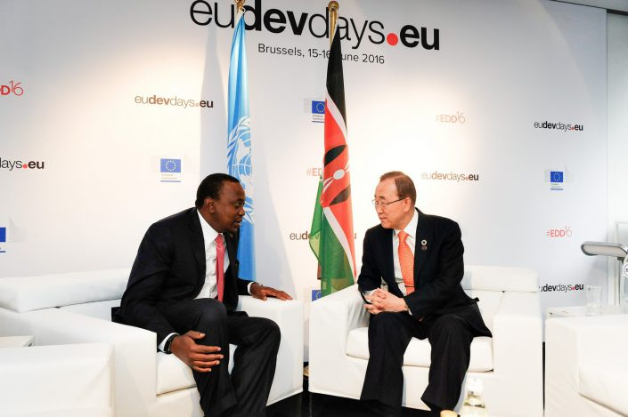 eudevdays - Meeting Room - Ban Ki-Moon and Uhuru Kenyatta