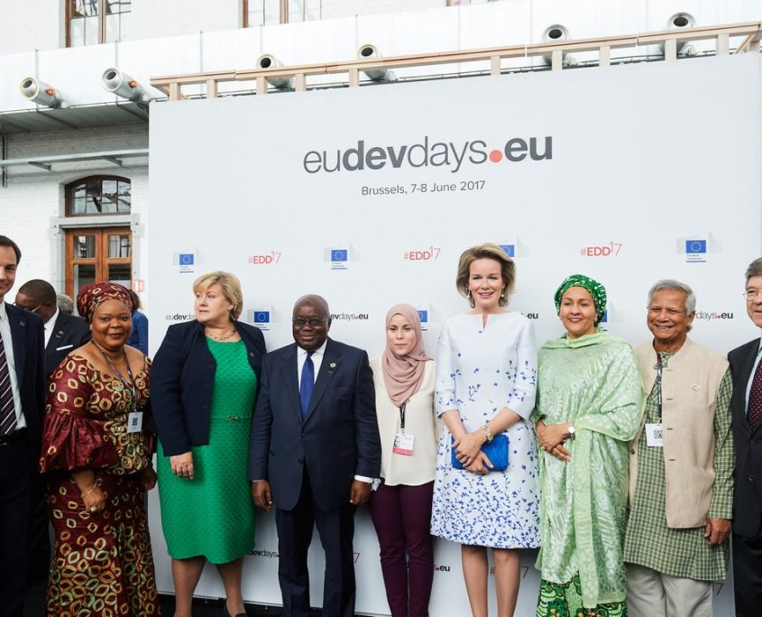Queen Mathilde of Belgium attended the opening ceremony of European Development Days (EDD) at Tour et Taxi in Brussels.